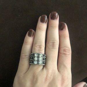 Premier design chunky diamond chain ring